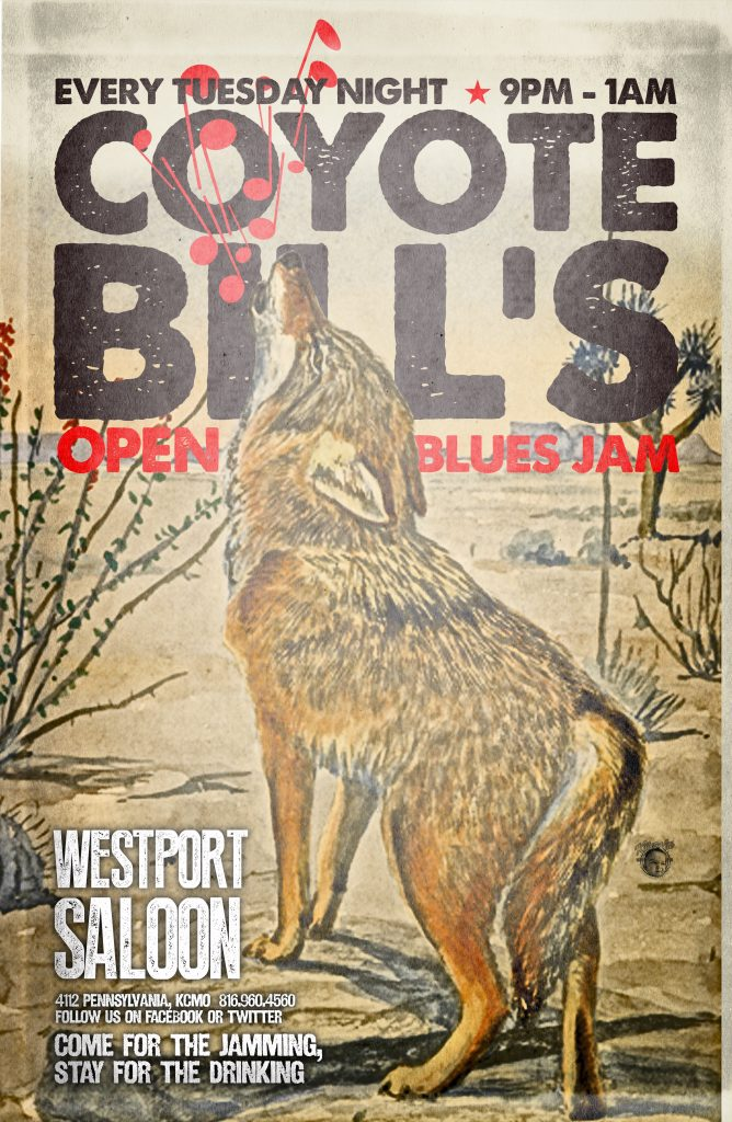 Tuesday Night Blues Jam hosted by Coyote Bill