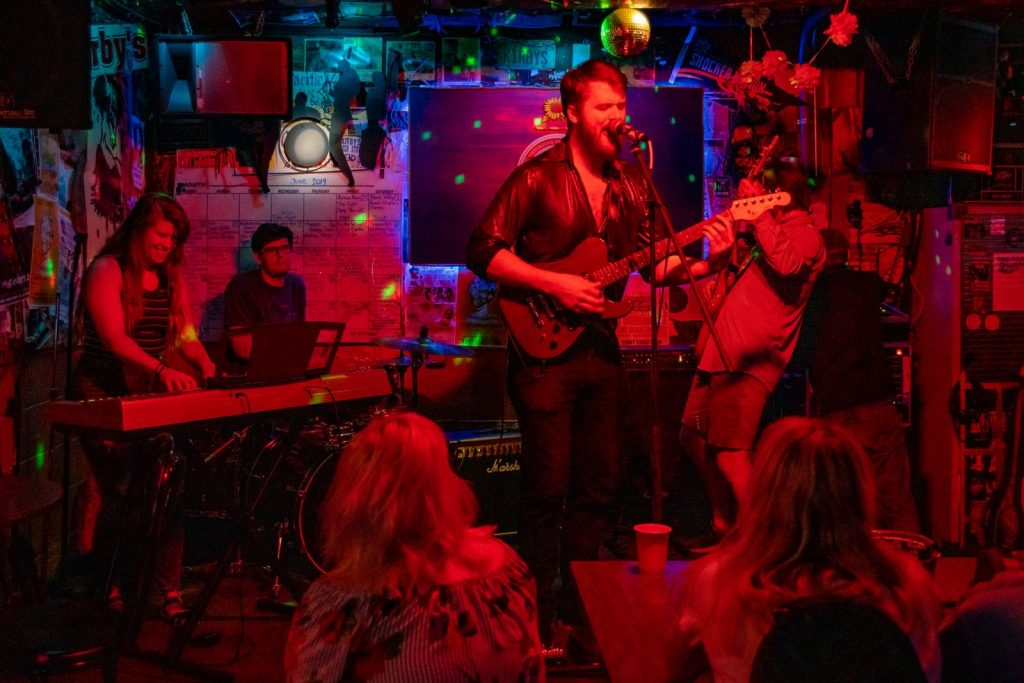 Colton Cox and Band playing live